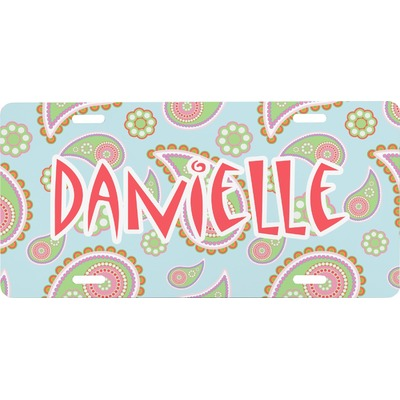 Blue Paisley Front License Plate (Personalized)