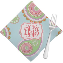 Blue Paisley Napkins (Set of 4) (Personalized)
