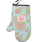 Blue Paisley Left Oven Mitt (Personalized)