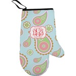 Blue Paisley Right Oven Mitt (Personalized)