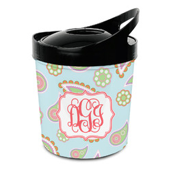 Blue Paisley Plastic Ice Bucket (Personalized)