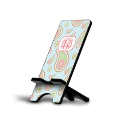 Blue Paisley Phone Stand (Personalized)