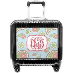 Blue Paisley Pilot / Flight Suitcase (Personalized)