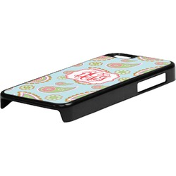 Blue Paisley Plastic iPhone 5C Phone Case (Personalized)