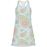 Blue Paisley Racerback Dress (Personalized)