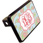 """Blue Paisley Rectangular Trailer Hitch Cover - 2"""" (Personalized)"""
