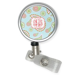 Blue Paisley Retractable Badge Reel (Personalized)