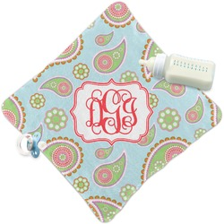 Blue Paisley Security Blanket (Personalized)