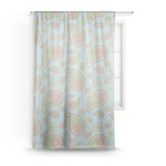 Blue Paisley Sheer Curtains (Personalized)