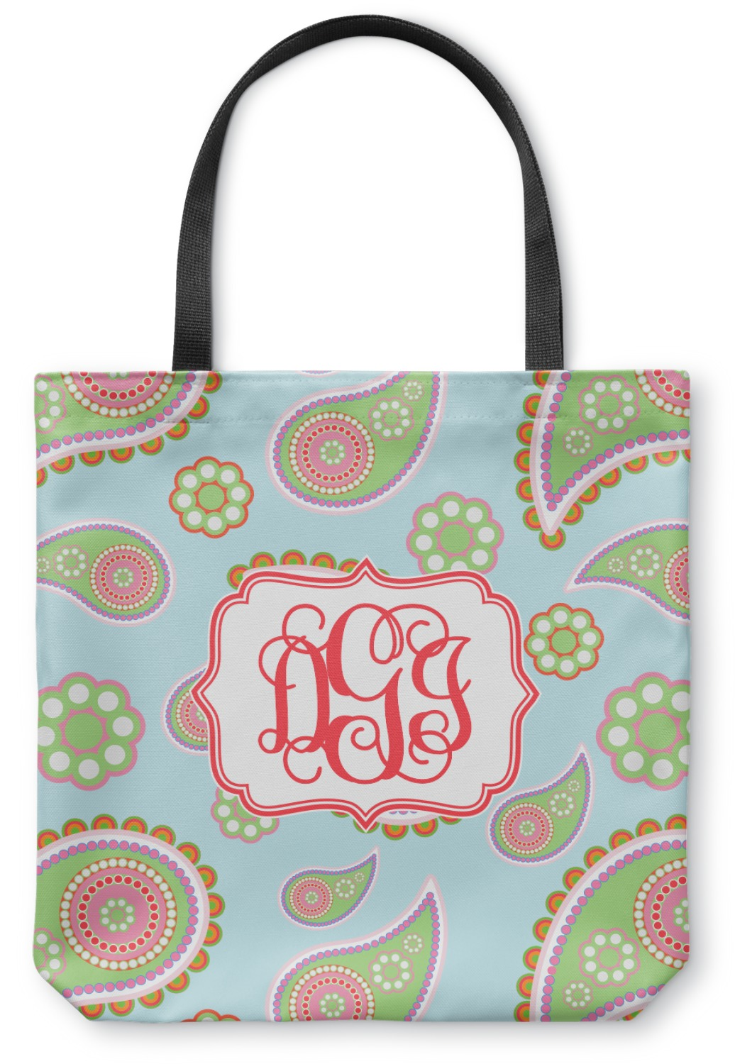 9f35bed4dea Blue Paisley Canvas Tote Bag (Personalized)