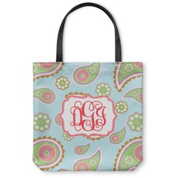Blue Paisley Canvas Tote Bag (Personalized)