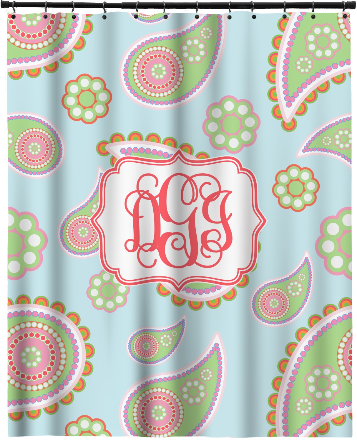 Blue Paisley Extra Long Shower Curtain 70 X90 Personalized Youcustomizeit