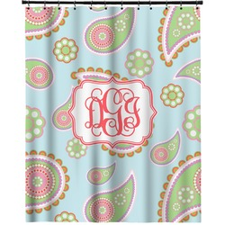 """Blue Paisley Extra Long Shower Curtain - 70""""x84"""" (Personalized)"""