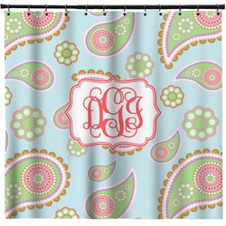 Blue Paisley Shower Curtain (Personalized)