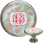 Blue Paisley Cabinet Knob (Silver) (Personalized)