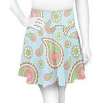 Blue Paisley Skater Skirt (Personalized)