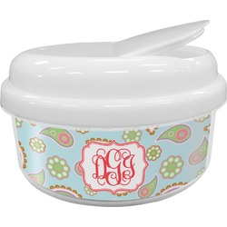 Blue Paisley Snack Container (Personalized)