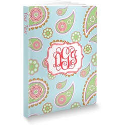 Blue Paisley Softbound Notebook (Personalized)