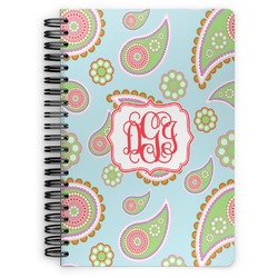 Blue Paisley Spiral Bound Notebook (Personalized)