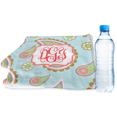Blue Paisley Sports & Fitness Towel (Personalized)