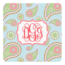 Blue Paisley Square Decal (Personalized)