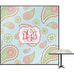 Blue Paisley Square Table Top (Personalized)