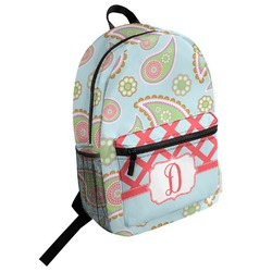 Blue Paisley Student Backpack (Personalized)