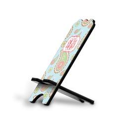 Blue Paisley Stylized Phone Stand (Personalized)