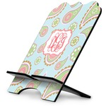 Blue Paisley Stylized Tablet Stand (Personalized)