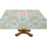 Blue Paisley Tablecloth (Personalized)