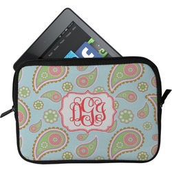 Blue Paisley Tablet Case / Sleeve (Personalized)