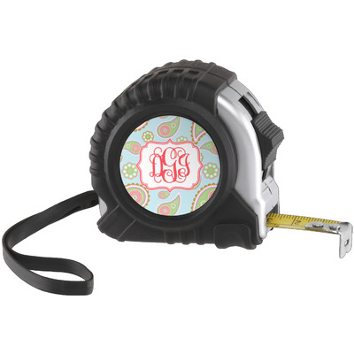 Blue Paisley Tape Measure (25 ft) (Personalized)