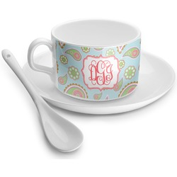 Blue Paisley Tea Cups (Personalized)