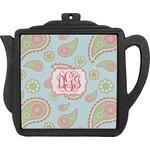 Blue Paisley Teapot Trivet (Personalized)