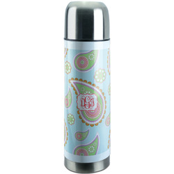 Blue Paisley Stainless Steel Thermos (Personalized)