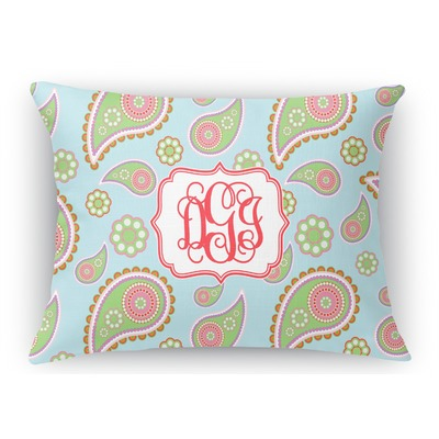 Blue Rectangular Throw Pillows : Blue Paisley Rectangular Throw Pillow - 12