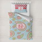 Blue Paisley Toddler Bedding w/ Monogram