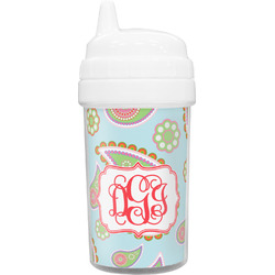 Blue Paisley Toddler Sippy Cup (Personalized)