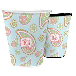 Blue Paisley Waste Basket (Personalized)