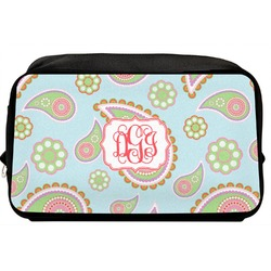 Blue Paisley Toiletry Bag / Dopp Kit (Personalized)