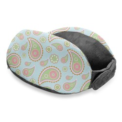 Blue Paisley Travel Neck Pillow (Personalized)