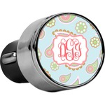 Blue Paisley USB Car Charger (Personalized)