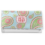 Blue Paisley Vinyl Checkbook Cover (Personalized)