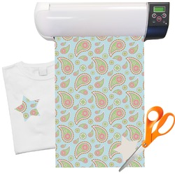 "Blue Paisley Heat Transfer Vinyl Sheet (12""x18"")"