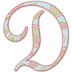 Blue Paisley Letter Decal - Custom Sizes (Personalized)