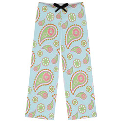Blue Paisley Womens Pajama Pants (Personalized)