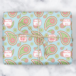 Blue Paisley Wrapping Paper (Personalized)