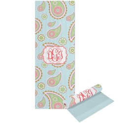 Blue Paisley Yoga Mat - Printable Front and Back (Personalized)