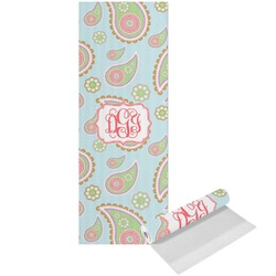 Blue Paisley Yoga Mat - Printed Front (Personalized)