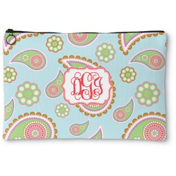 Blue Paisley Zipper Pouch (Personalized)